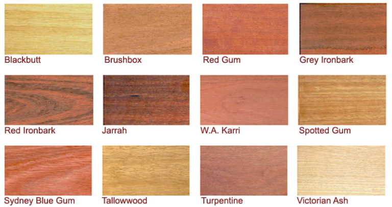 Decking Timber Selection Swatch